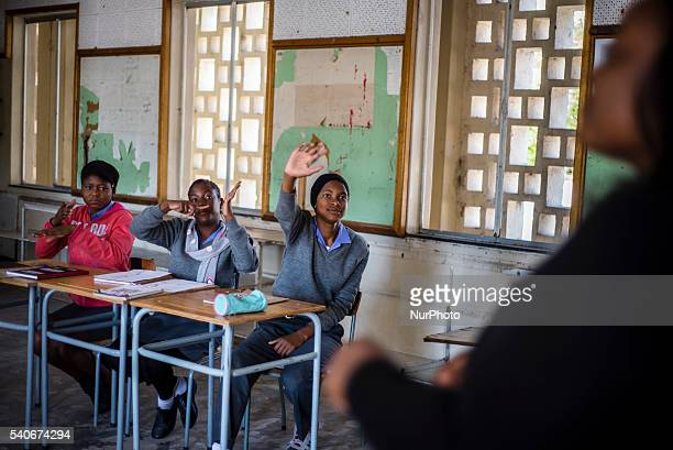 Deaf learners of the ninth grade have their Mathematic lesson at Eluwa Special School in Ongwediva Namibia Tuesday June 14 2016