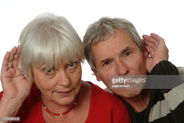 Gehörlos Altes Paar