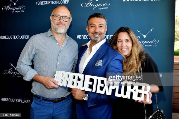 Deagan Penner Ahmad Shahriar and Price Arana attend Breguet Marine Collection Launch at Little Beach House Malibu on July 11 2019 in Malibu California