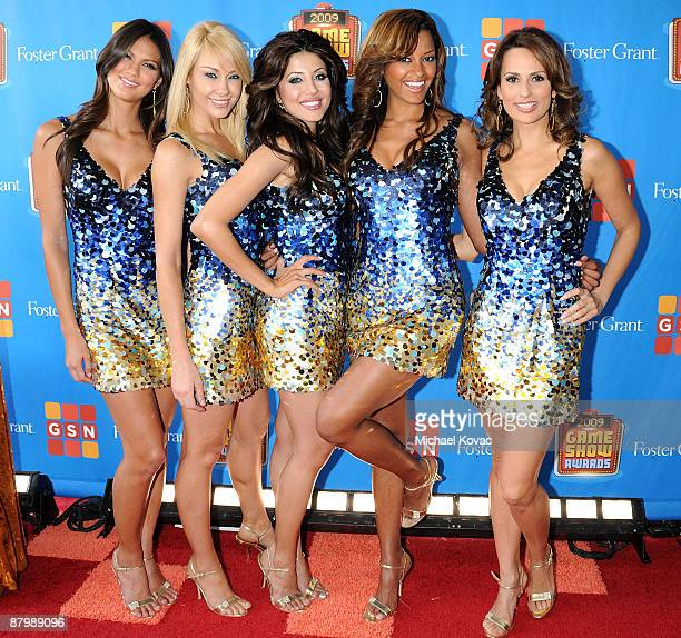 'Deal or No Deal' Briefcase Models Megan Abrigo Lisa Gleave Leyla Milani Claudia Jordan and Patricia Kara arriving at the GSN's 1st Annual Game Show...