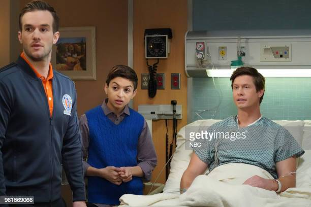 CHAMPIONS 'Deal or No Deal' Episode 110 Pictured Andy Favreau as Matthew JJ Totah as Michael Anders Holm as Vince