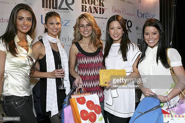 Deal or No Deal models Katie Cleary Megan Abrigo Patricia Kara Lauren Shiohama and Sara Bronson attend The Retreat Premier Gift Lounge At Super Bowl...
