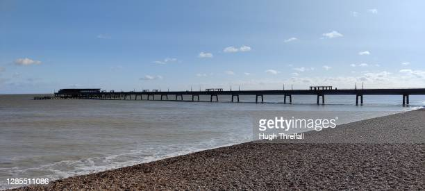 deal pier in kent, england. - hugh threlfall stock pictures, royalty-free photos & images