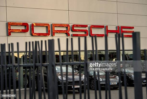 A dealership of German carmaker Porsche is pictured in Villeneuve d'Ascq northern France on November 3 2015 The US Environmental Protection Agency...