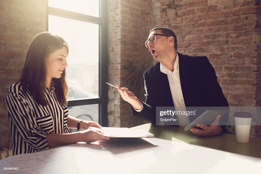 Dealing With A Bad Boss : Stock Photo