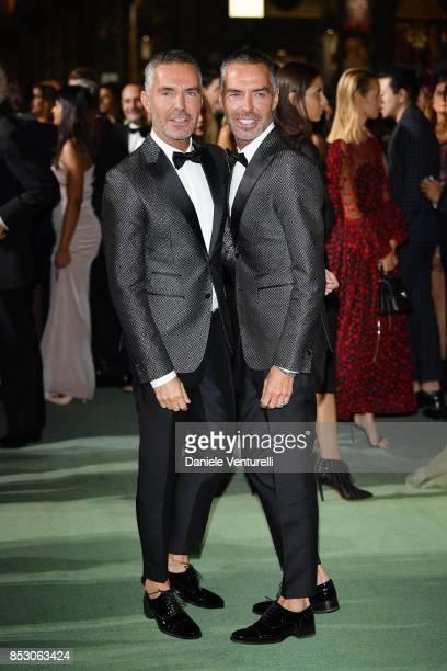 Dean and Dan Caten attend the Green Carpet Fashion Awards Italia 2017 during Milan Fashion Week Spring/Summer 2018 on September 24 2017 in Milan Italy