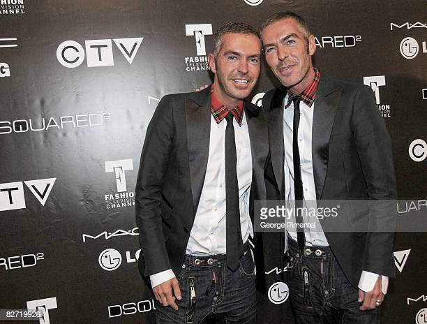Dean and Dan Caten attend the MAC GOLD FEVER AFTER PARTY at the Chum/City TV Building on September 7 2008 in Toronto Canada