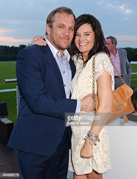 Dean Andrews and Helen BowenGreen attend day one of the Audi Polo Challenge at Coworth Park Polo Club on May 31 2014 in Ascot England