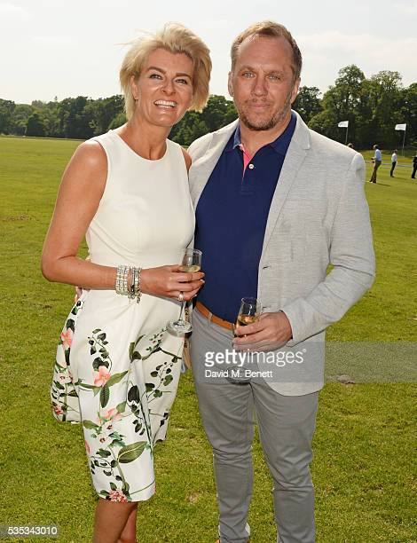 Dean Andrews and Helen BowenGreen attend day two of the Audi Polo Challenge at Coworth Park on May 29 2016 in London England