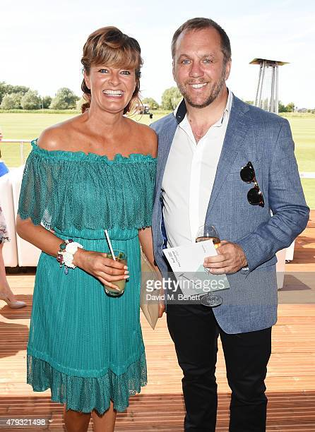 Dean Andrews and Helen Bowen-Green attend the Audi Polo Challenge 2015 at Cambridge County Polo Club on July 3, 2015 in Cambridge, England.