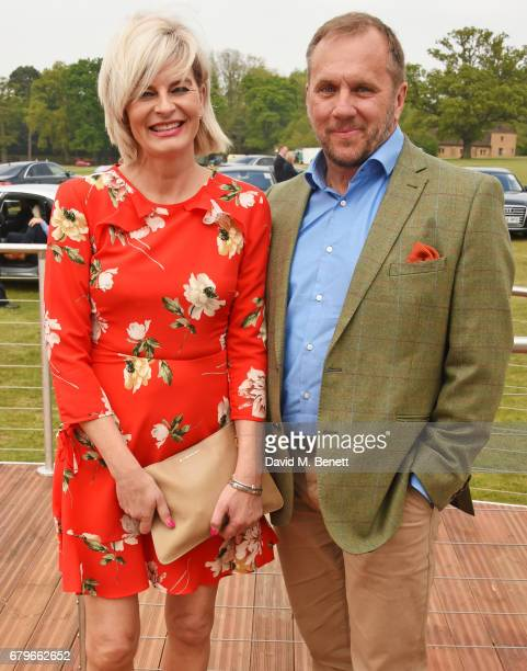 Dean Andrews and Helen BowenGreen attend the Audi Polo Challenge at Coworth Park on May 6 2017 in Ascot United Kingdom