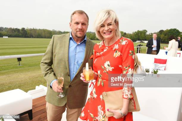 Dean Andrews and Helen Bowen-Green attend the Audi Polo Challenge at Coworth Park on May 6, 2017 in Ascot, United Kingdom.