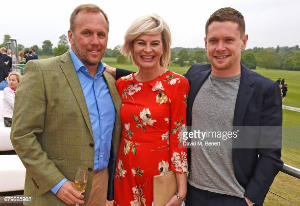 Dean Andrews Helen BowenGreen and Jack O'Connell attend the Audi Polo Challenge at Coworth Park on May 6 2017 in Ascot United Kingdom