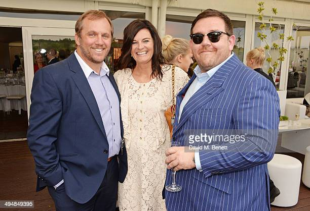 Dean Andrews Helen BowenGreen and Nick Frost attend day one of the Audi Polo Challenge at Coworth Park Polo Club on May 31 2014 in Ascot England