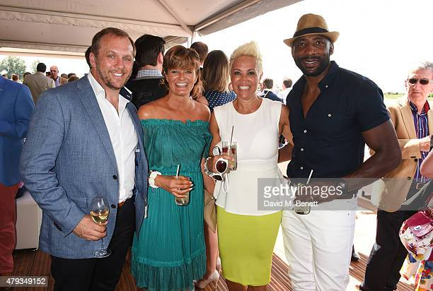 Dean Andrews, Helen Bowen-Green, Debbie Nelson and Johnny Nelson attend the Audi Polo Challenge 2015 at Cambridge County Polo Club on July 3, 2015 in...