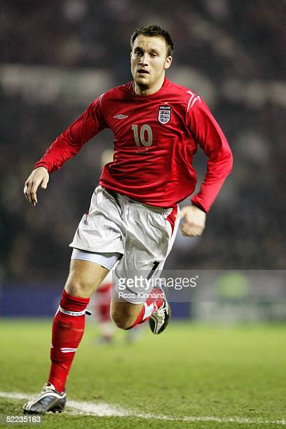 Dean Ashton of England during the under 21 international friendly match between England and Holland at Pride Park, on February 8, 2005 in Derby,...
