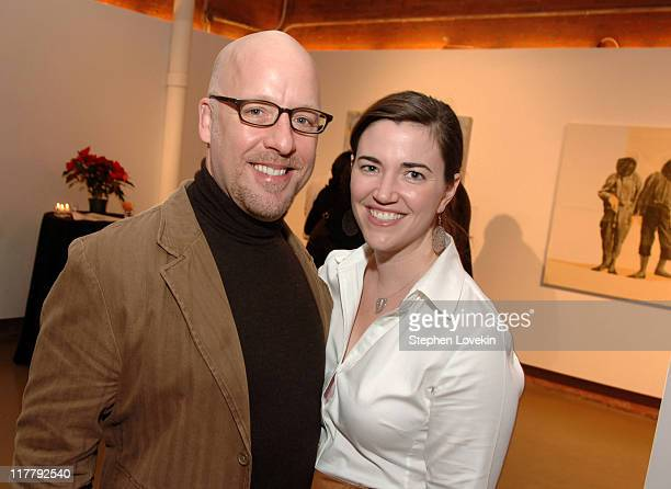 Dean Barger and Laura Jordan during Virgin Mobile ReGeneration Art Auction and Party December 13 2006 at The Xchange in New York New York United...