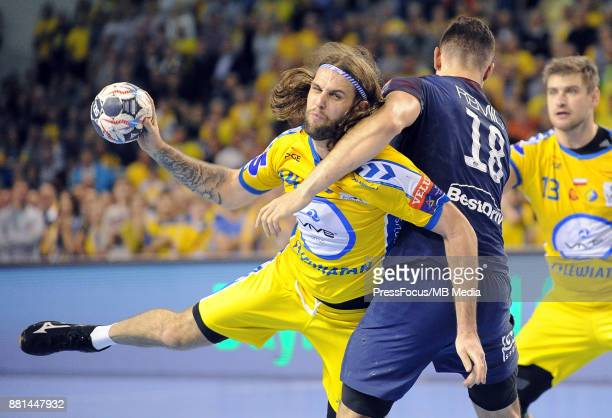 Dean Bombac during the EHF Men's Champions League Game between PGE Vive Kielce and PSG Handball on November 26 2017 in Kielce Poland