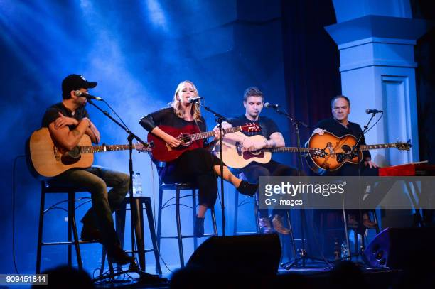 Dean Brody Jessica Mitchell Levi Hummon and Marcus Hummon perform at the CMA Songwriters Series held at the Great Hall on January 23 2018 in Toronto...