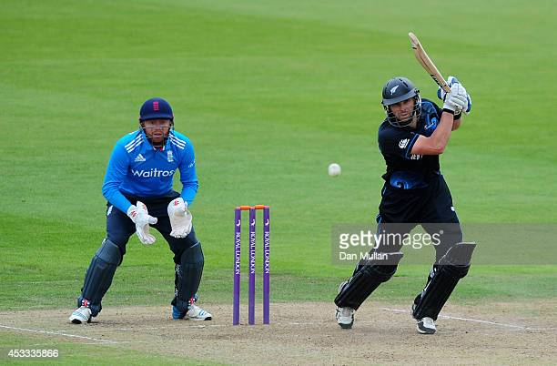 Dean Brownlie of New Zealand A bats during the Triangular Series match between England Lions and New Zealand A at The County Ground on August 8 2014...