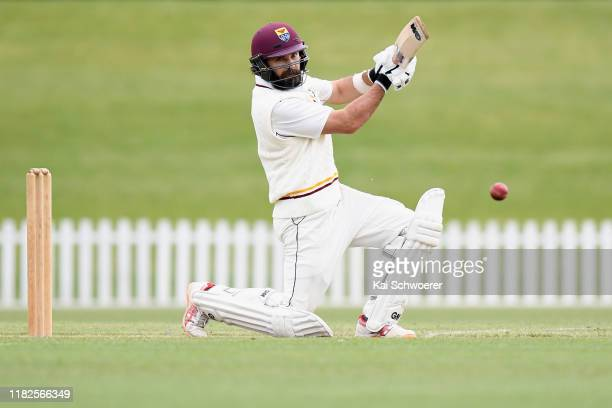 Dean Brownlie of Northern Districts bats during the Plunket Shield match between Canterbury and Northern Districts at Hagley Oval on October 22 2019...