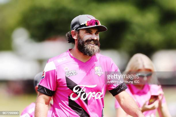 Dean Brownlie of the Knights looks on prior to the Super Smash Grand Final match between the Knights and the Stags at Seddon Park on January 20 2018...