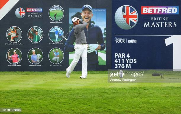 Dean Burmester of South Africa tees off on the first hole during the Final Round of The Betfred British Masters hosted by Danny Willett at The Belfry...
