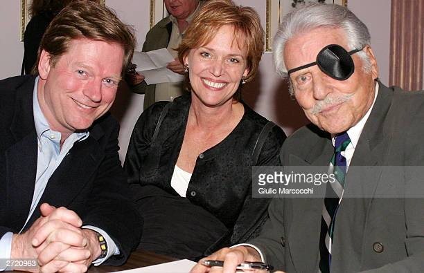 Dean Butler Katherine Cannon Butler and Efrem Zimbalist Jr attend My Dinner of Herbs event at The Hollywood History Museum on November 11 2003 in...
