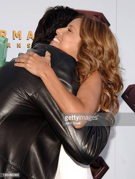Dean Cain and Eva Longoria during 'Superman Returns' World Premiere Sponsored By Belstaff at Mann Village and Bruin Theaters in Westwood California...