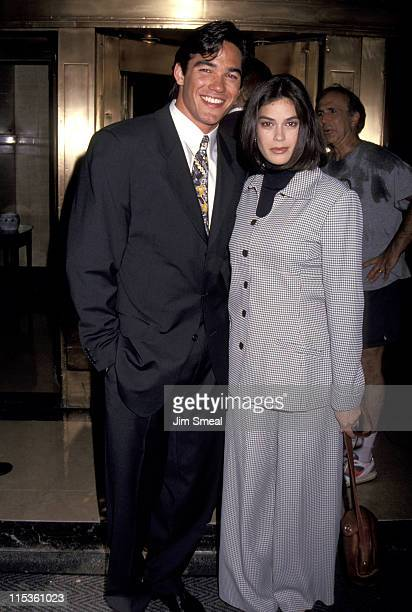 Dean Cain and Teri Hatcher during ABC Meets With Stars of New and Current Shows 1993 at The Westbury Hotel in New York City NY United States