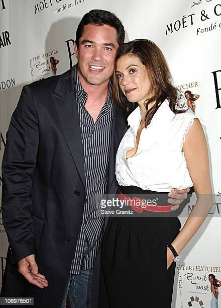Dean Cain and Teri Hatcher during Launch Party for Teri Hatcher's Book Burnt Toast and Other Philosophies of Life Arrivals at Book Soup/Aqua...