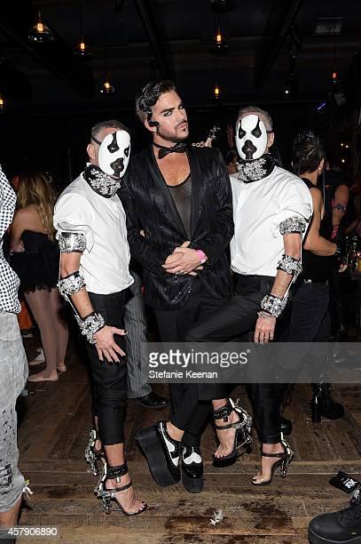 Dean Caten, Adam Lambert and Dan Caten attend Matthew Morrison's 5th Annual Halloween Party Presented By Freixenet at Hyde On Sunset on October 25,...