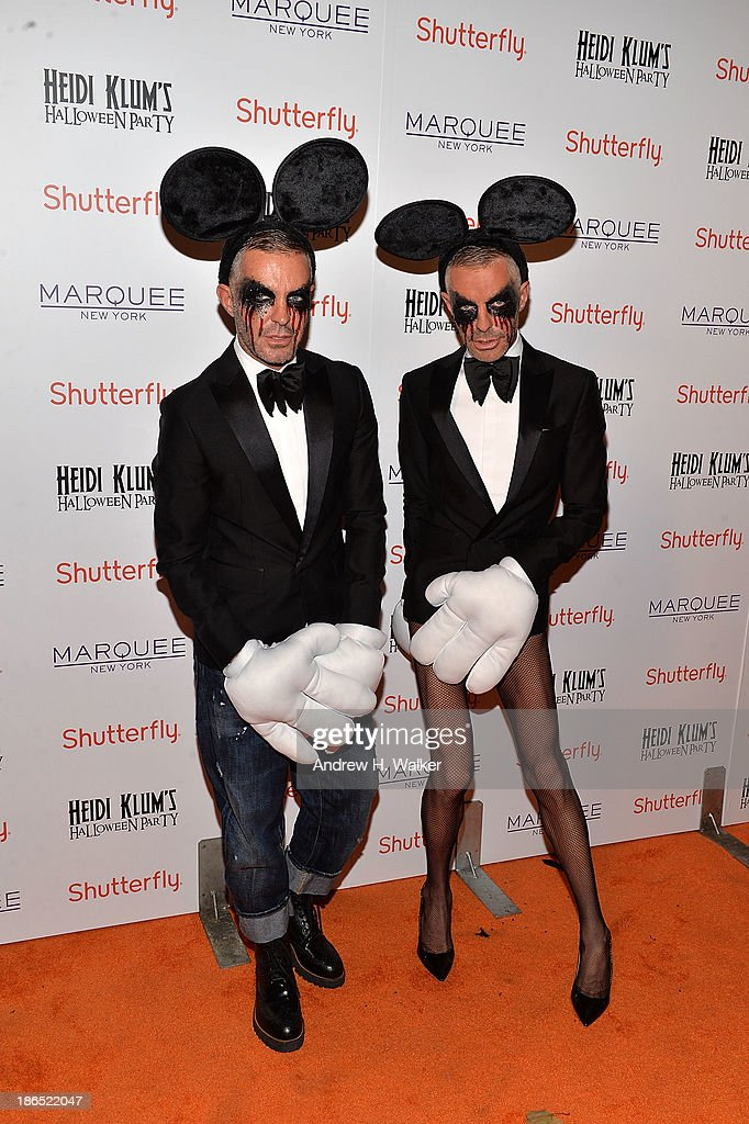 Dean Caten and Dan Caten attend Heidi Klum's Halloween presented by Shutterfly at Marquee on October 31, 2013 in New York City.