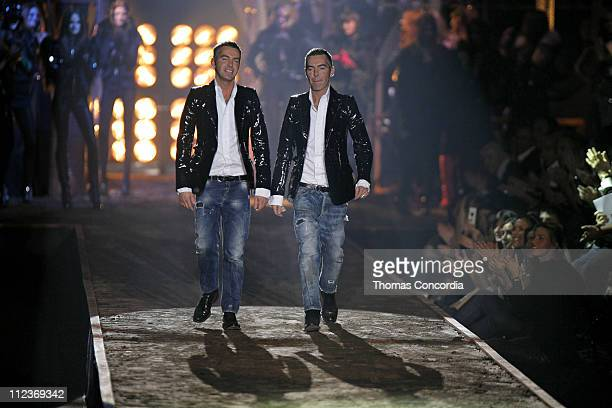 Dean Caten and Dan Caten during Milan Fashion Week Fall/Winter 2007 Dsquared2 Runway in Milan Italy