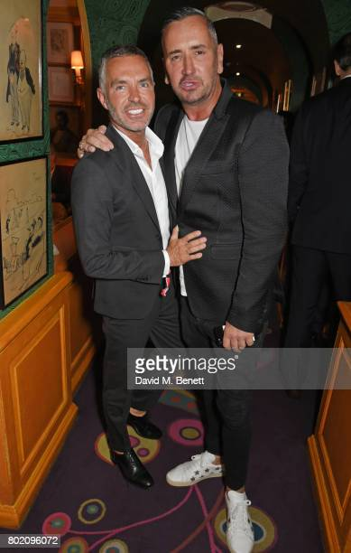Dean Caten and Fat Tony attend the Rita Ora dinner and performance at Annabel's on June 27 2017 in London England