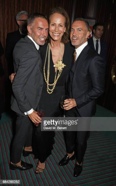 Dean Caten Andrea Dellal and Dan Caten attend a private dinner celebrating the launch of the KATE MOSS X ARA VARTANIAN collection at Isabel on May 17...