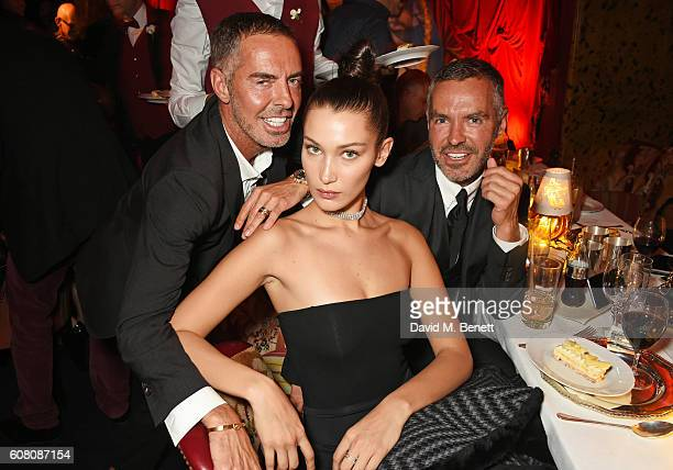 Dean Caten Bella Hadid and Dan Caten attend LOVE Magazine and Marc Jacobs LFW Party to celebrate LOVE 165 collector's issue of LOVE and Berlin 1989...