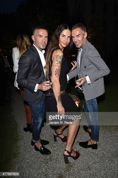 Dean Caten Dan Caten and Benedetta Mazzini attend GQ Party for Jim Moore during Milan Menswear Fashion Week Spring/Summer 2016 at Casa Degli Atellani...