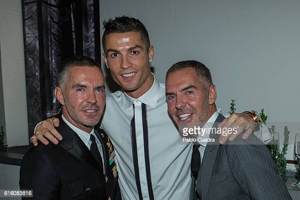 Dean Caten Dan Caten and Cristiano Ronaldo attend the Dsquared2 Opening Cocktail in the new Madrid store on October 21 2016 in Madrid Spain