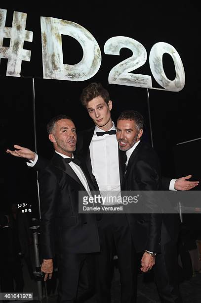 Dean Caten Dan Caten and guest attend the Dsquared2 during the Milan Menswear Fashion Week Fall Winter 2015/2016 on January 16 2015 in Milan Italy