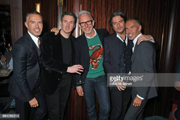 Dean Caten Dave Gardner Patrick Cox Darren Strowger and Dan Caten attend a private dinner celebrating the launch of the KATE MOSS X ARA VARTANIAN...