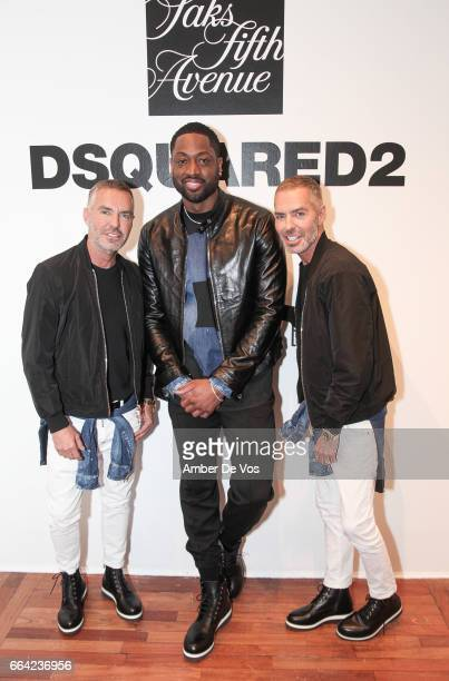 Dean Caten, Dwyane Wade and Dan Caten attend the Exclusive Launch of the Dsquared2 x Dwyane Wade Capsule Collection at Saks Fifth Avenue on April 3,...