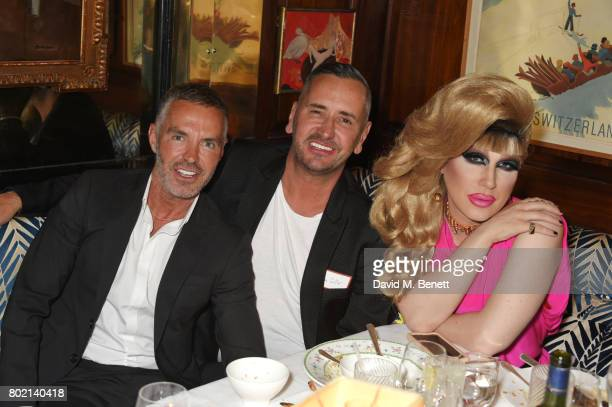 Dean Caten Fat Tony and Jodie Harsh attend the Rita Ora dinner and performance at Annabel's on June 27 2017 in London England