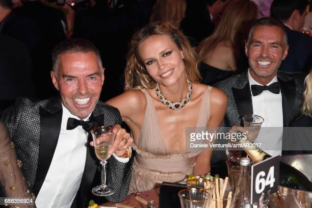 Dean Caten Natasha Poly and Dan Caten arrive at the amfAR Gala Cannes 2017 at Hotel du CapEdenRoc on May 25 2017 in Cap d'Antibes France