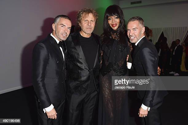 Dean Caten Renzo Rosso Naomi Campbell and Dan Caten attend amfAR Milano 2015 at La Permanente on September 26 2015 in Milan Italy