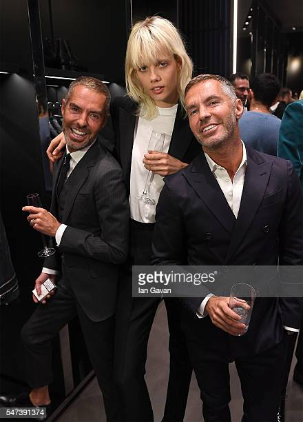 Dean Caton, Marjan Jonkman and Dan Caton attend the Dsquared2 Cocktail Party Preview Spring/Summer 2017 on July 14, 2016 in London, England.