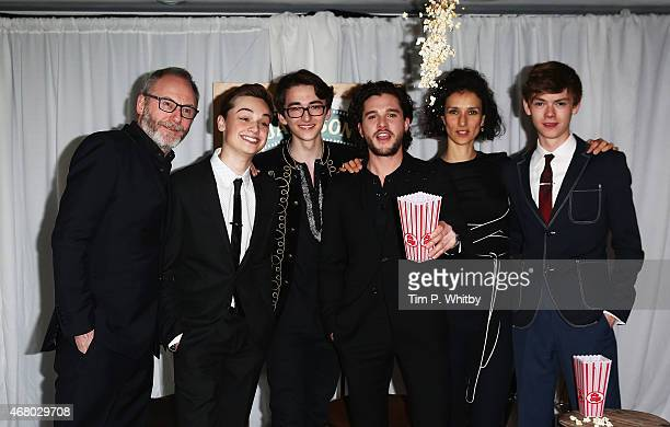 """Dean Charles-Chapman, Liam Cunningham, Kit Harington, Isaac Kempstead and Thomas Brodie-Sangster collect the Empire Hero Award for """"Game of Thrones""""..."""