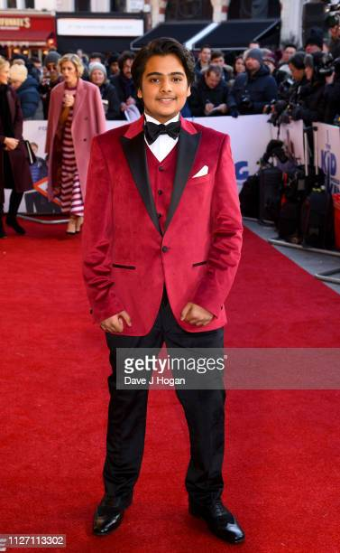 """Dean Chaumoo attends a gala screening of """"The Kid Who Would Be King"""" held at Odeon Leicester Square on February 03, 2019 in London, England."""