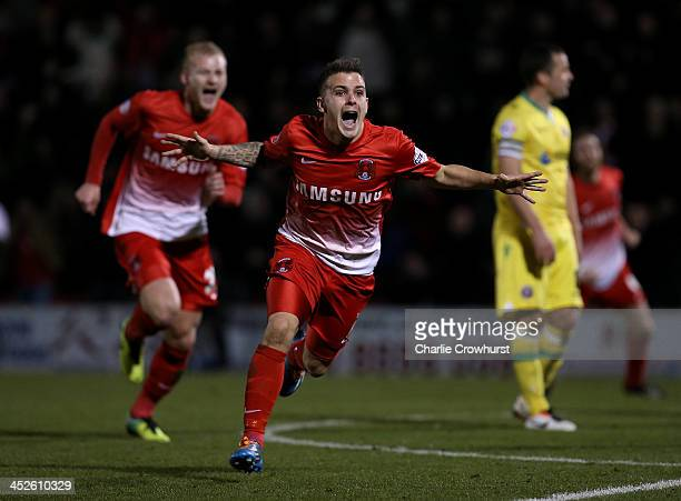 Dean Cox of Leyton Orient celebrates after scoring the equaliser during the Sky Bet League One match between Leyton Orient and Sheffield United at...