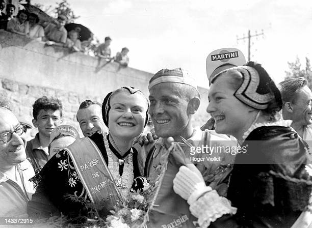 Dean De Groot Dutch racing cyclist winner of the 13th stage of the 1955 Tour de France between Millau and Albi on July 21 1955